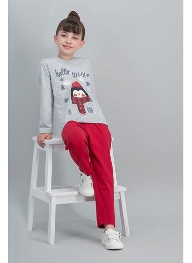 Roly Poly Rolypoly Hello Winter Penguin Krem Kız Çocuk Pijama Takımı Gri